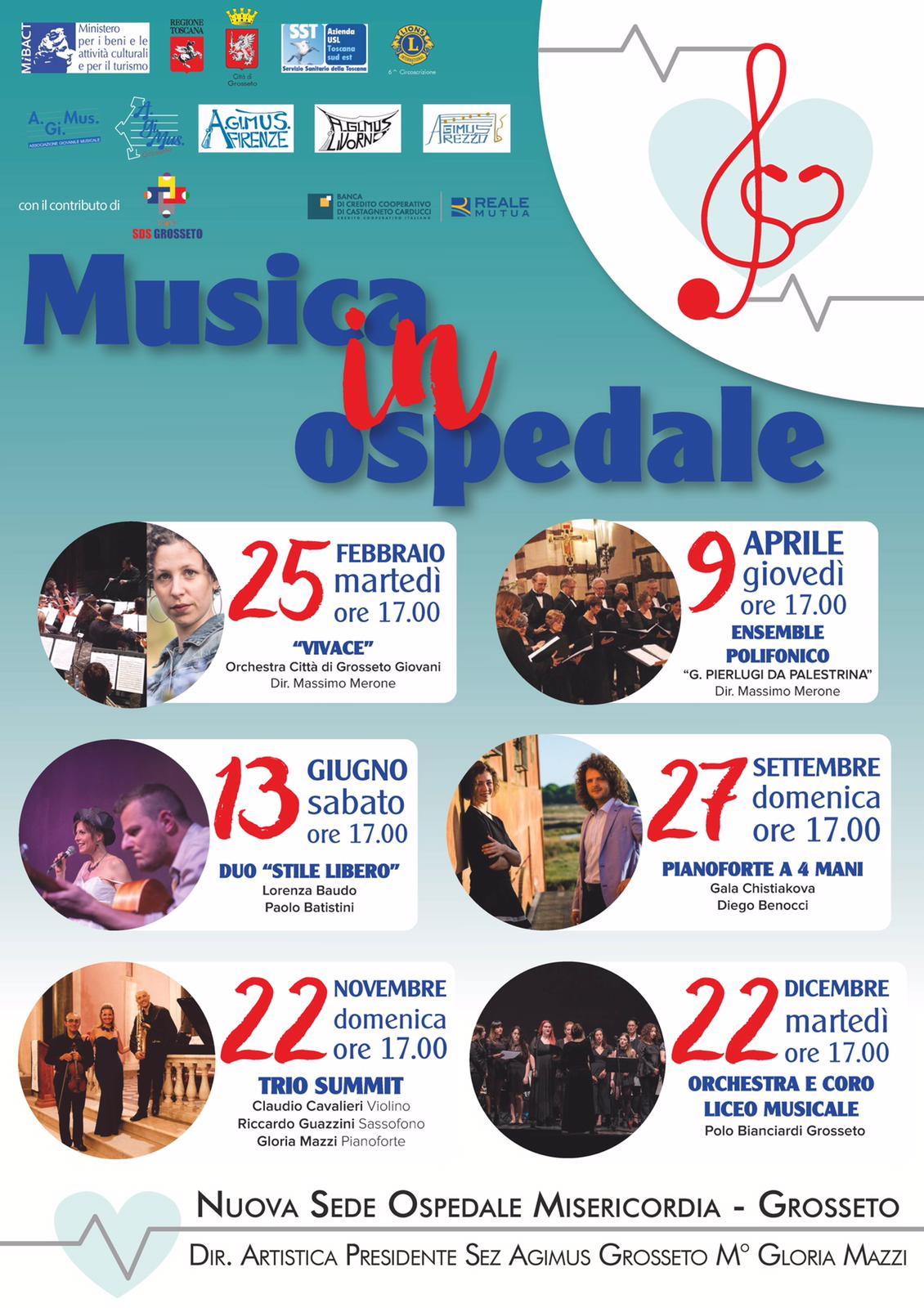 """Concerto """"Musica in Ospedale"""" del 09 aprile 2020"""