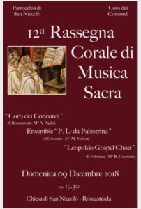 XII° Rassegna Corale di Musica Sacra a Roccastrada (GR) @ Chiesa di San Niccolò | Roccastrada | Toscana | Italia